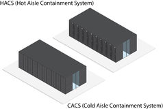 Isometric rack server containment system Stock Photos
