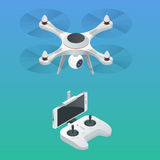 Isometric Radio-controlled drone. Innovation video and photography equipment. Vector illustration.  vector illustration