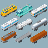 Isometric Railroad Train. Vector Image Royalty Free Stock Image