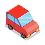 Isometric Red Car Icon Royalty Free Stock Image