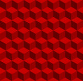 Isometric red pattern Stock Photography
