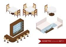 Isometric restauracja restauracja wewnętrzna , Fotografia Stock
