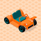 Isometric retro car model. Sport utility vehicle. Three dimensional image of vintage cabriolet car. Buggy car Stock Image