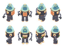 Isometric Retro Robot. This is the Isometric Retro Robot Stock Photography