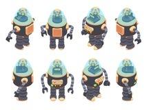 Isometric Retro Robot Stock Photography