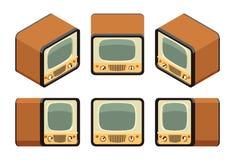 Isometric retro telewizory ilustracji