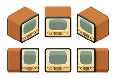 Isometric retro TV sets Stock Image