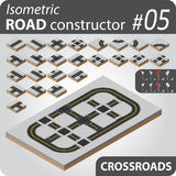 Isometric road constructor - 05 Royalty Free Stock Image