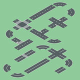 Isometric road elements. Stock Images