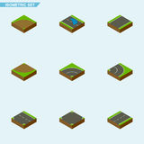 Isometric Road Set Of Driveway Royalty Free Stock Images