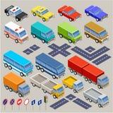 Isometric road set. Royalty Free Stock Photo