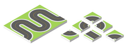 Isometric road. Vector illustration eps 10 isolated on white background. Isometric road. Vector illustration eps 10 isolated on white background Stock Photos