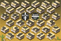 Isometric Roads on Desert Terrain Royalty Free Stock Photography