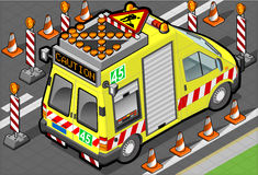 Isometric roadside assistance truck. Detailed illustration of a isometric roadside assistance truck Stock Images