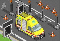 Isometric roadside assistance truck Royalty Free Stock Photos