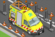 Isometric roadside assistance truck Stock Photography