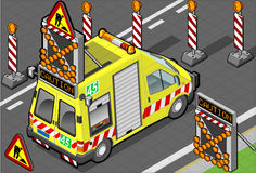 Isometric roadside assistance truck. Detailed illustration of a isometric roadside assistance truck Stock Image