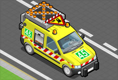 Isometric roadside assistance van Stock Image