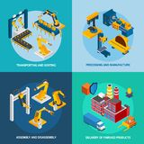 Isometric Robot Machinery Royalty Free Stock Image