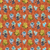 Isometric robots seamless pattern Royalty Free Stock Photography