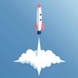 Isometric rocket launch Royalty Free Stock Photos