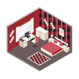 Isometric room Royalty Free Stock Image