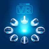 Isometric rzeczywistości wirtualnej słuchawki royalty ilustracja