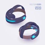 Isometric rzeczywistości wirtualnej słuchawki Obrazy Royalty Free