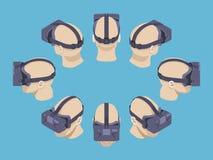 Isometric rzeczywistości wirtualnej słuchawki Fotografia Stock
