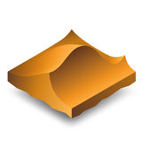 Isometric sand dunes. Isometric brown sand dunes (barkhans vector illustration