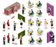 Isometric School People Set royalty free illustration