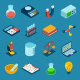 Isometric Science Icons Royalty Free Stock Photos