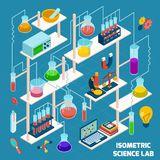 Isometric Science Lab Royalty Free Stock Photo