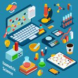 Isometric Science Workplace Royalty Free Stock Image