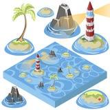 Isometric sea element Stock Photos