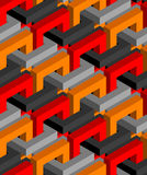Isometric seamless background Royalty Free Stock Image