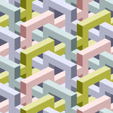 Isometric seamless background Stock Photos