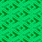 Isometric seamless pattern Stock Images
