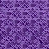 Isometric seamless pattern Stock Image