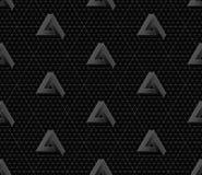 Isometric seamless pattern. 3D optical illusion background. Royalty Free Stock Photo