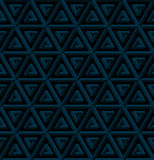 Isometric seamless pattern. 3D optical illusion background. Neutral Isometric Seamless Pattern in dark blue. 3D Optical Illusion Background Texture. Editable Stock Photos