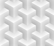 Isometric seamless pattern. 3D optical illusion background. Stock Photo
