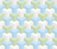 Isometric seamless pattern. 3D optical illusion background. Isometric Seamless Pattern in pastel shades. 3D Optical Illusion Background Texture. Editable Vector Royalty Free Stock Photos