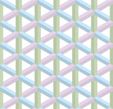 Isometric seamless pattern. 3D optical illusion background. Isometric Seamless Pattern in pastel shades. 3D Optical Illusion Background Texture. Editable Vector Royalty Free Stock Images
