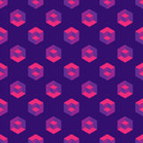 Isometric seamless pattern with optical illusion cubes Stock Photo