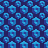 Isometric seamless pattern with optical illusion cubes Royalty Free Stock Photos