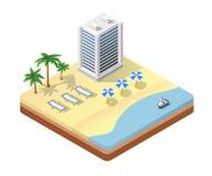 Isometric seascape beach Stock Images