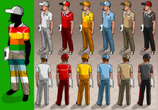 Isometric service mans in two positions. Detailed illustration of a isometric service mans in two position Royalty Free Stock Image