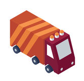 Isometric Service Truck Object or Icon - Element for Web, Tileset Map, Landscape Design, Urban Architecture Stock Photo