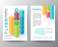 Isometric shape design Brochure Flyer Layout vector template Stock Images
